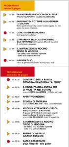 Nocinopoli 2018 Programma